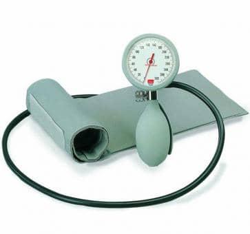 boso K1 Mechanisches Blutdruckmessgerät mit Klettenmanschette grau ohne Etui.