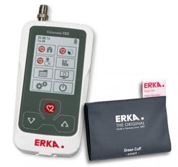 ERKA Erkameter 125 Pro Oberarm-Blutdruckmessgerät, Green Cuff Smart Rapid Manschette Größe 3