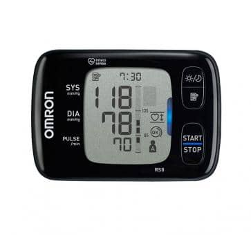Versandrückläufer OMRON RS8 (HEM-6310F-E) Handgelenk-Blutdruckmessgerät Value Pack